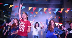 Students participating in the carnival's community dance. Photo by Camaela Mijares