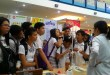 Out of curiosity, students from different schools around the city examine the exhibit's experiment set-ups at the NCCC Mall activity area. (Photo from the official Facebook page of Department of Science and Technology Region XI)